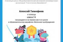 Gramota_Aleksey_Timofeev_klassa_1_B_team_place_in_school_marathon_b2t_8