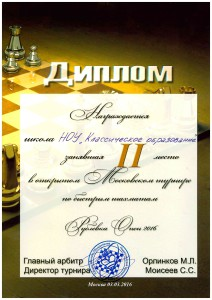 Шахматы 2016, 2 место